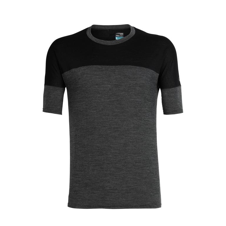 Icebreaker Herr T-shirt Kinetica SS Crewe Black Hthr/Black