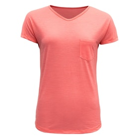 Devold of Norway T-shirt Herdal Woman Tee -Coral