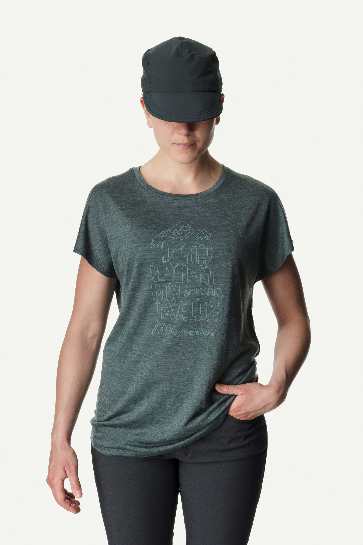 Houdini T-shirt W´s Activist Message Tee - Deeper green