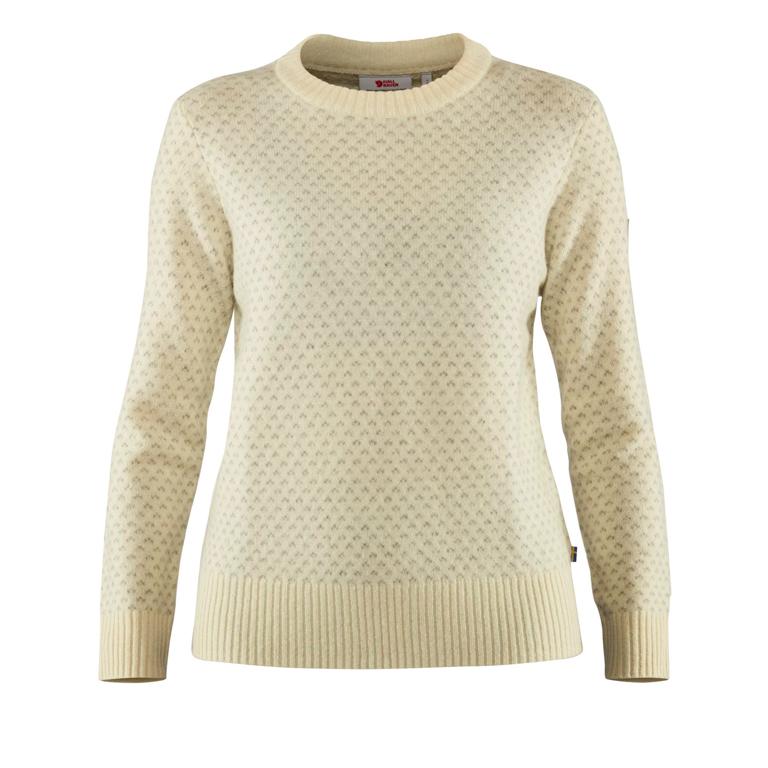 Fjällräven Tröja Övik Nordic Sweater W Chalk White