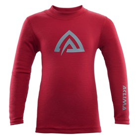 Aclima Underställströja WarmWool Crew Neck shirt, Chil Chili Pepper/ Olive Night