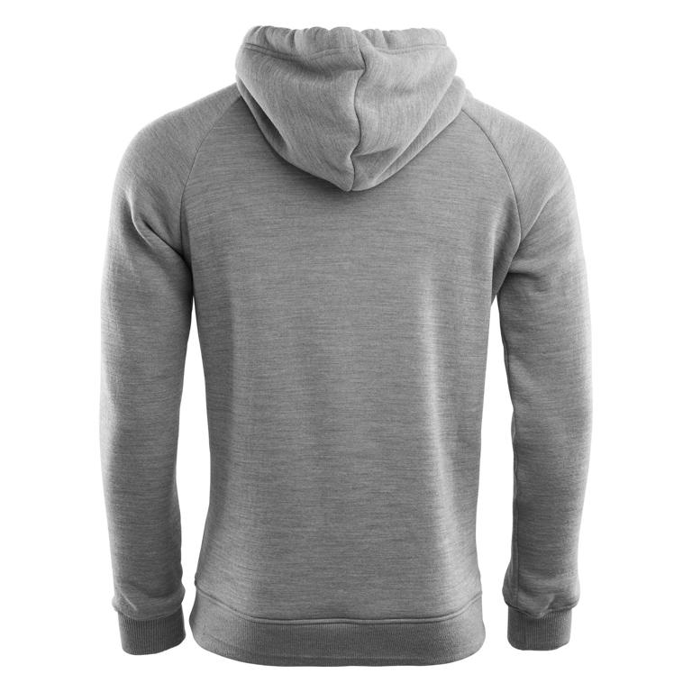Aclima Huvtröja WoolFleece Hoodie, Man Grey Melange