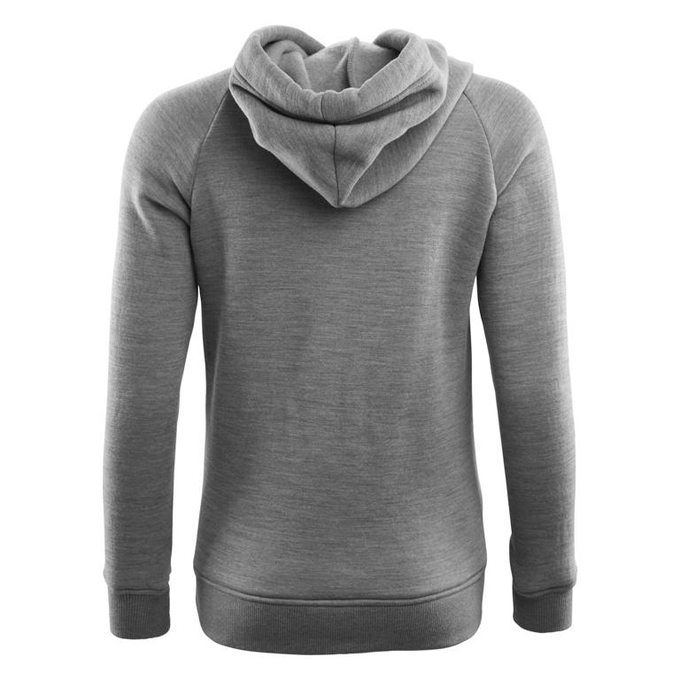 Aclima Huvtröja WoolFleece Hoodie, Woman Grey Melange