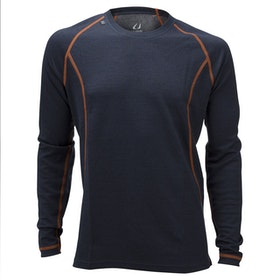 Ulvang Underställströja 50Fifty 2.0 round neck Ms Granite/Charcoal Melange