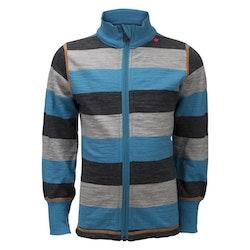 Ulvang Barntröja Flint jacket kids Mosaic Blue/Grey Melange/Charcoal Melange