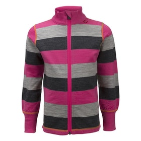 Ulvang Barntröja Flint jacket kids Beetroot/Grey Melange/Charcoal Melange