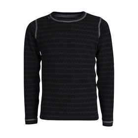 Ulvang Barnunderställströja 50Fifty 3.0 round neck Jr Black/Mix
