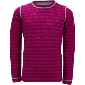 Ulvang Barnunderställströja 50Fifty 3.0 round neck Jr Heady Magenta Mix