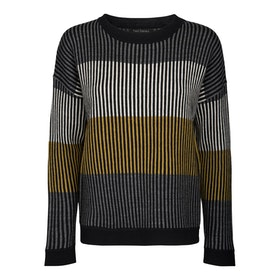 Two Danes Tröja Marley Sweater Black/W.Dove