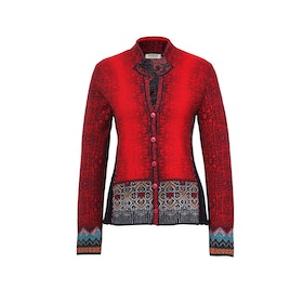 IVKO Woman Kofta Jacket Geometric Pattern Red