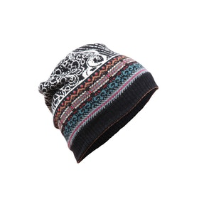 IVKO Woman Mössa Cap Geometric Pattern Black