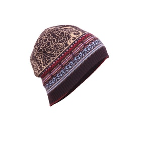 IVKO Woman Mössa Cap Geometric Pattern Brown