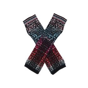 IVKO Woman Handledsvärmare Wrist Warmers Geometric Pattern Black