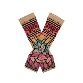 IVKO Woman Handledsvärmare Wrist Warmers Jacquard Pattern Black