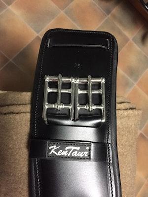 Dressyrgjord ergonomisk svart 50 cm