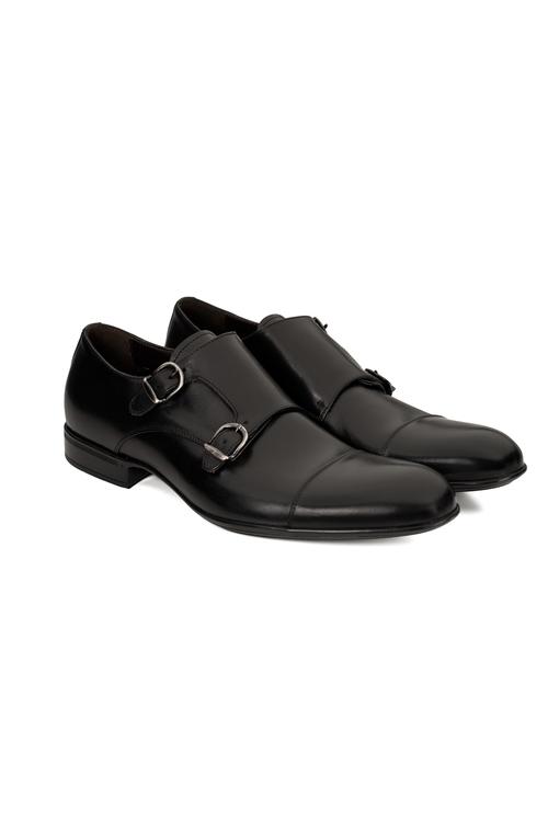 Svart sko i dubbel monkstrap
