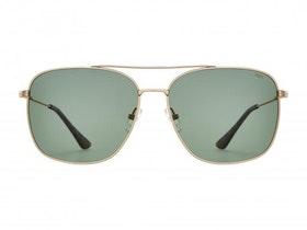 Solglasögon Norr Linus matt gold green