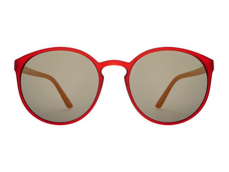Solglasögon Norr Ella matte red smoke/gold mirror