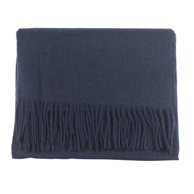 Blå halsduk i ull