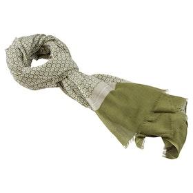 Grön mönstrad scarfs i bomull