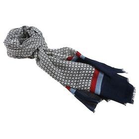 Blå mönstrad scarfs i bomull