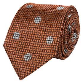 Roströd slips i vävd siden