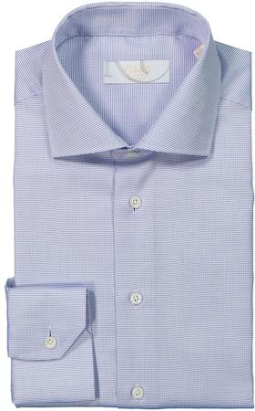 Vit skjorta med blå prickar