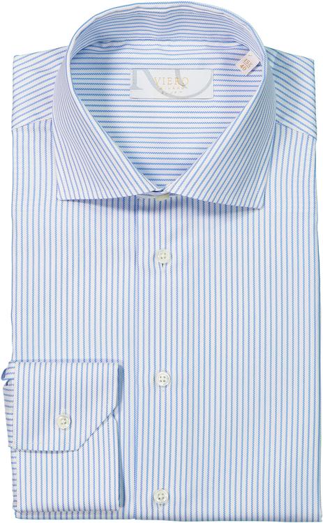 Vit skjorta med blå ränder