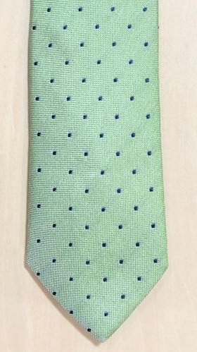 Ljusgrön slips med blå prickar - Viero Milano