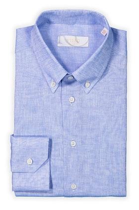 Blå skjorta i linne