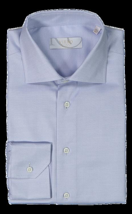 Ljusblå birdseye skjorta