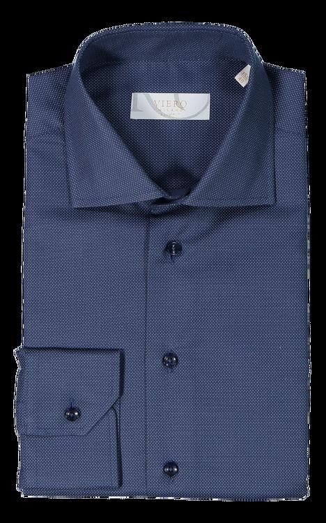 Mörkblå skjorta med fin struktur