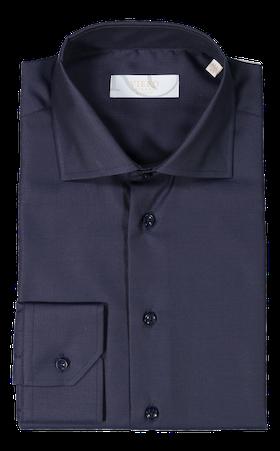 Mörkblå skjorta med mörkblå knappar