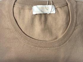 Rundhalsad Pima Cotton - sandfärgad