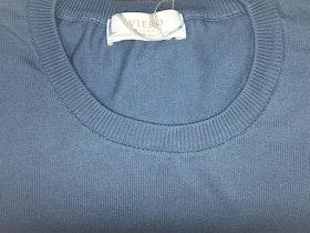 Rundhalsad Pima Cotton - ljusblå