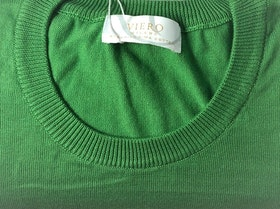Rundhalsad Pima Cotton - grön