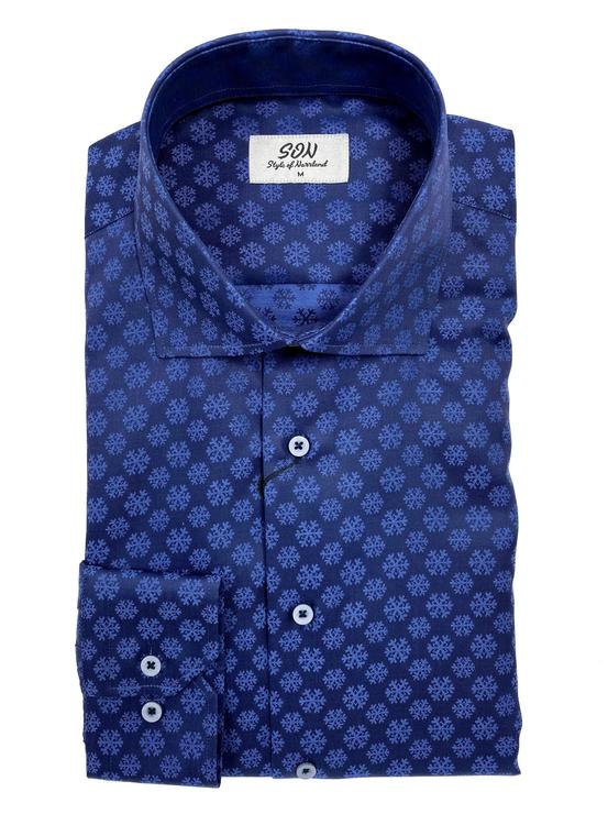 Skjorta med mönster av snöflingor