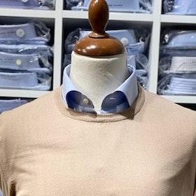 Rundhalsad tröja i Pima Cotton - sandfärgad