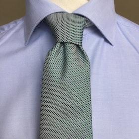 Sidensslips grön men blå prickar