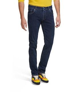 Mörkblå jeans i smal modell