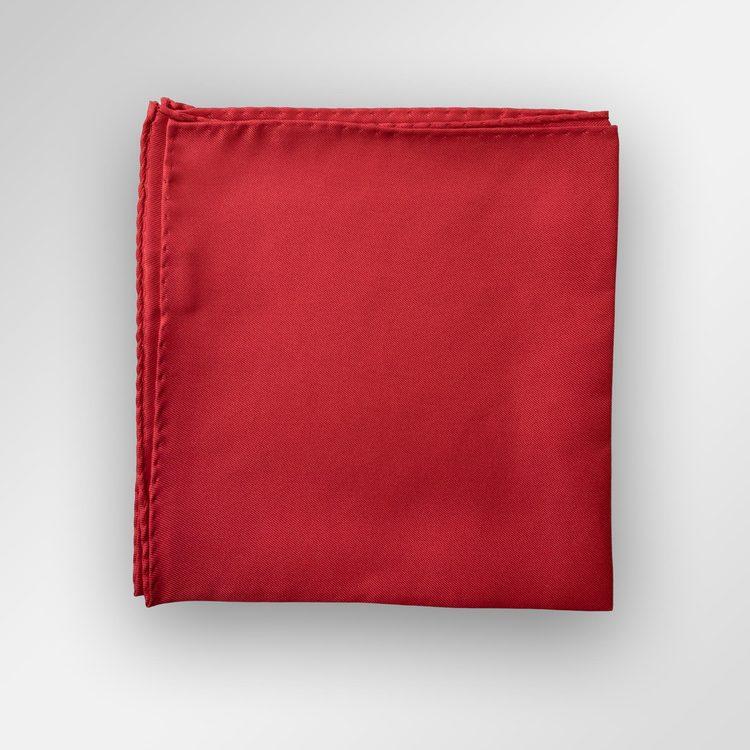 Klassiskt röd bröstnäsduk i siden