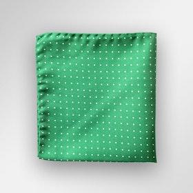 Grönprickig bröstnäsduk i siden