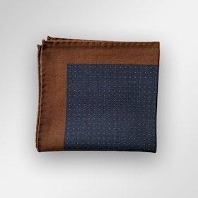 Brun/blå bröstnäsduk i siden