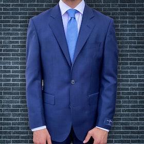 Kostym Marinblå med diskret rutmönster