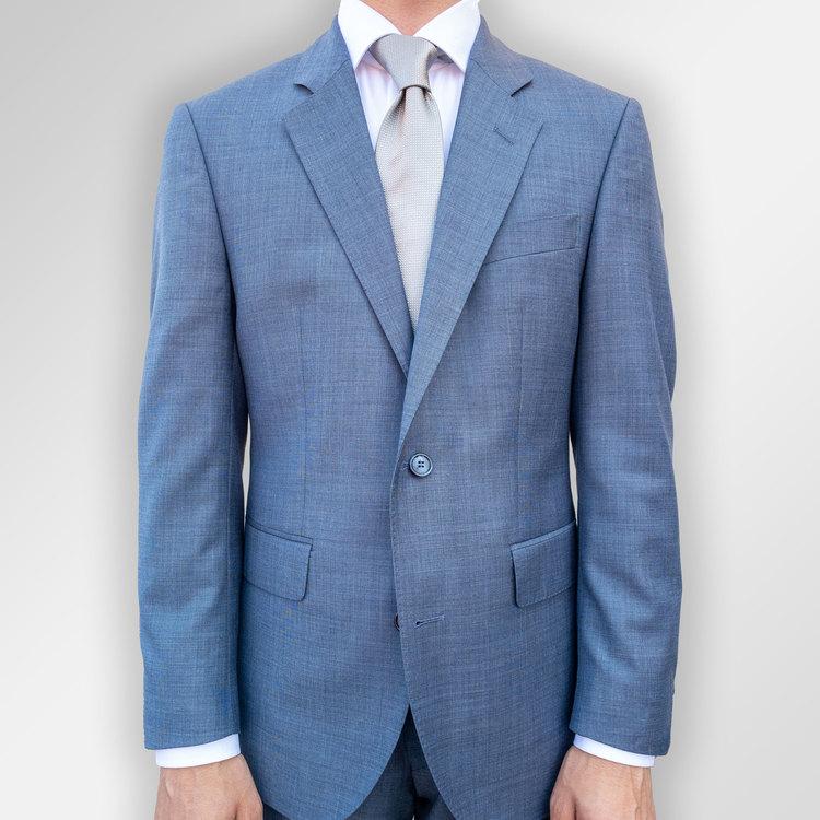 Kostym Viero Milano ljusblå melerad Super 130´S