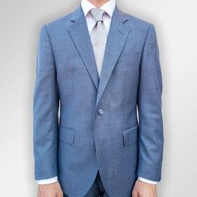 Kostym ljusblå melerad