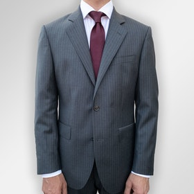 Grå pinstripe kostym