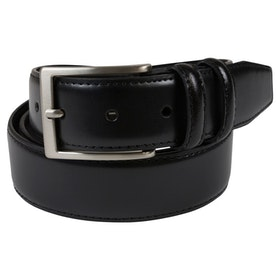 Skinnbälte svart 35mm