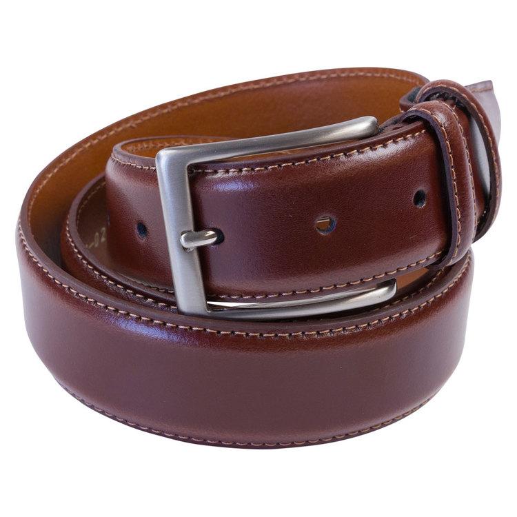 Skinnbälte brunt 35mm