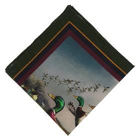 Grön Bröstnäsduk med ankor - siden